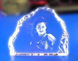 Crystal laser 3D Décoration de table portrait souvenir (JD-ND-005)