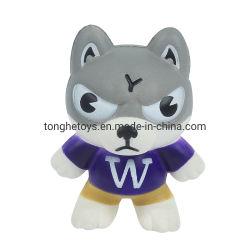 Subida lenta descompressão Brinquedos de alívio de tensões Squishy programável de ventilação de forma Wolf espuma PU Squeeze Toy