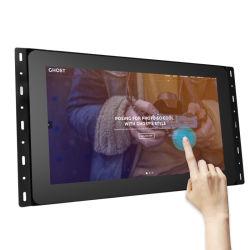 Usine de vente à chaud de 15,6 pouces écran tactile LCD de la publicité comprimé dans le mur à châssis ouvert Android tablette