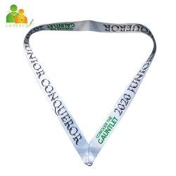 Cinghia promozionale della sagola del nastro della medaglia di sport di alta qualità su ordinazione con il giunto circolare