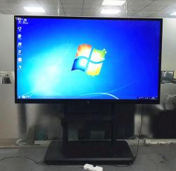 86 pouces 4K tout dans un PC intégré tableau blanc interactif tactile multi-IR avec carte OPS