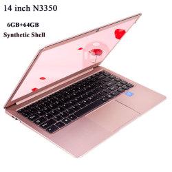 인텔 Celeron N3350 기억 장치 6GB+64GB 건전지 통합 그래픽 카드를 가진 14.1 인치 노트북 컴퓨터 휴대용 퍼스널 컴퓨터