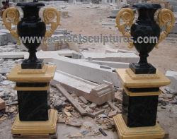 Сад декоративные смешанные цвета камня мрамора Карвинг букет ваза сеялки для дома (QFP327)