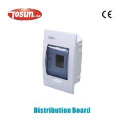 Para montaje empotrado de plástico MCB Caja de distribución de alojamiento