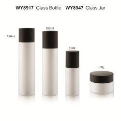 40 мл 60 мл, 120 мл, стекло, стекло, цвет белый Набор для лосьона для контейнеров для ухода за кожей