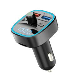 Kit veicular Bluetooth mãos livres transmissor FM com carregador de automóvel