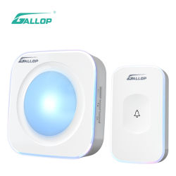 Galop sans fil Intelligent Touch sonnette avec flash LED lumière pour la maison et bureau