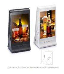 表示アンドロイド8のインチHDのキオスクスクリーンのスタンドアロンデジタル表記を広告するFyd-868plus Xのテーブルの上ネットワークWiFi LCD