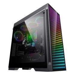 ATX Gaming Case, PC Gaming, Computerteile, Computergehäuse, RGB Infinity, Gehärtetes Glas Design, Gamemax