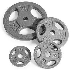 Esmalte cozido cinza de ferro fundido sólido Fleck Ginásio Custom Levantadores de conjunto de placa de choques de concorrência