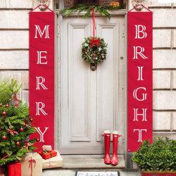 Weihnachtsdekoration-fröhliches helles Portal-Zeichen für Hauptwand-Tür