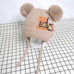Herbstund Winterneue Knit-Schutzkappen-kundenspezifische Firmenzeichen-hohe Sprung-Mohär-reine Farben-Licht-Versions-Woolen Schutzkappen-koreanische Versionvielseitig begabte Knit-Schutzkappe