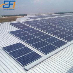 حامل السقف على شكل شبه منحرف السروفالطاقة الشمسية حوامل مزودة بنظام القضبان الكهروضوئية لنظام تثبيت الحامل لمدة السقف المنحدر