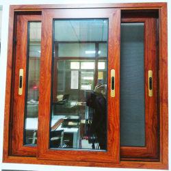 Finestra di vetro bassa scorrevole di alluminio di legno di ottimo rendimento del patio E