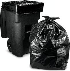 Schwarze Abfall-Beutel-Abfall-Beutel-Abfalleimer-Plastikzwischenlage