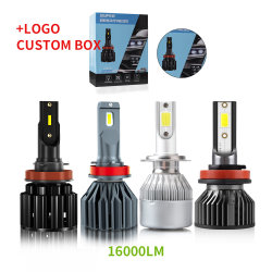 O sistema de iluminação automática Haizg C6 S2 X3 S1 carro farol LED LED Automotivo Lâmpadas Automático 9005 H11 H7 H4 Farol de LED