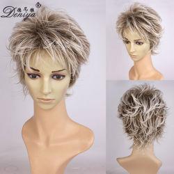 Высшего качества с возможностью горячей замены продажа очаровательных коротких синтетических Wig для леди