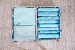 Поездки сжатый вакуумный пластиковый пакет одежды герметичной вакуумные мешки для хранения космической Saver дома экономит рабочее пространство