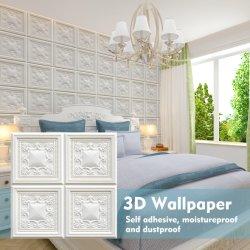 3D de espuma autoadhesiva XPE Papel tapiz de pared de fondo para la TV