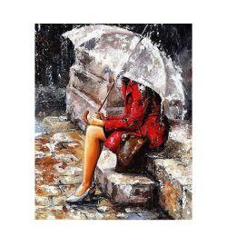 Chenistory alleen in de Regen - het Schilderen DIY door de Uitrusting van Aantallen