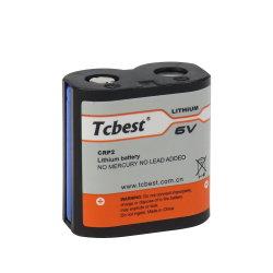 Haute qualité batterie non rechargeable Limno2 CRP2 1400mAh CR-P2 batterie au lithium 6 V Li-Mno CRP22 pour la caméra de la batterie