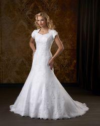 Emprie vestido de novia de novia de manga corta vestido de novia