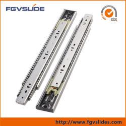 L'extension complète du tiroir à roulement à billes en acier inoxydable de la diapositive