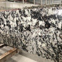 Qualitäts-natürliche Steinquarzit-/Marmorplatten Brasilien weiß/grauer Eis-Blau-Granit poliert für Küche-Badezimmer-Gegenoberseite-Entwurf