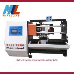 Doppelt-Mittellinie Rq-650 Ausschnitt-Tisch-Maschinen-Gebrauch für Ring-Material, Kurbelgehäuse-Belüftung, Haustier, Film, Papier und stirbt