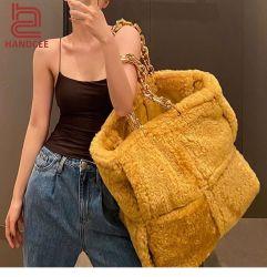 Commercio all'ingrosso Moda Fluff pelle Ladies Bag Marca Designer Donna Tracolla Top Luxury Donna Borse Donna Autunno Inverno Plush Borsa tote Lady