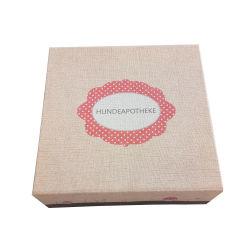 El lujo de alta calidad de la junta de papel envuelve la Caja de almacenamiento para la ropa con tejido Cube