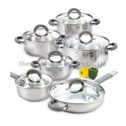 12pcs cuisinière à gaz Corps en acier inoxydable Ustensiles de cuisine Set de cuisine La cuisine
