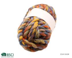 Fios mesclados em acrílico espesso é usada para fazer cobertores e almofadas no Inverno-P358