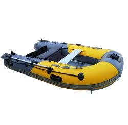 PVC Opblaasbare vissersboot 4-persoons Air Rubber Sports Rib Roeiboot Bijboot met Air Floor / Aluminium Floor Groothandel Superieur 0.9 mm 270 cm