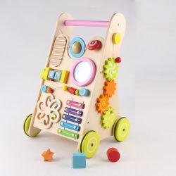 A aprendizagem do bebé de madeira Walker brinquedos para bebês de 1 ano de idade empurrar e puxar o carro um centro de actividades para Bebé Madeira Walker