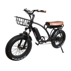 알루미늄 합금 프레임 눈 바닷가 함 Retro 전기 자전거 750W 1000W 뚱뚱한 타이어 E 자전거 또는 전기 자전거 또는 전기 자전거 Mz 244