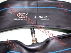 Yog partes do motociclo motociclo tubo interior 3.00-18 borracha butílica