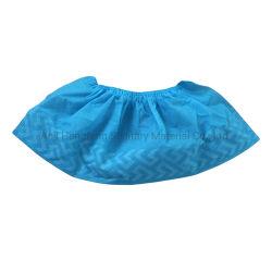 Wegwerffuss-Deckel-Cer-anerkanntes Sicherheit rutschfestes antistatisches sicheres bewegliches medizinisches blaues PET Wegwerfnicht gesponnene schützende Schuhe für Krankenhaus säubern Staub-Fuß
