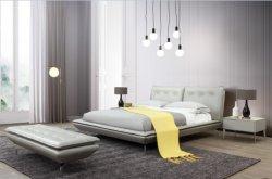 유럽 작풍 침대. 이탈리아 작풍 침대. 가죽 침대. 침실 가구, 현대 침대,