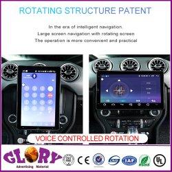 Mustang Vehículo con 10,1 pulgadas Ai el Control de voz que se puede girar Gran Pantalla capacitiva IPS estéreo para coche