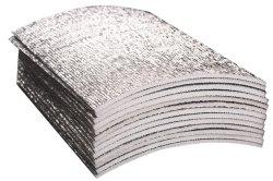 مادة عازلة من الألومنيوم بطبقة إسفنجية مصقولة بطبقة رقيقة من مادة العزل الحراري باللون الرمادي الداكن ورق ألومنيوم