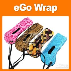 Anneau de cordon en cuir EGO Peau de serpent tendance Necklace des étuis de transport pour l'e-cigarette