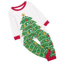 Herbst und Winter Weihnachtsmütze Druckanzug Weihnachten Hauskleidung Schlafanzug Eltern-Kind Wear5