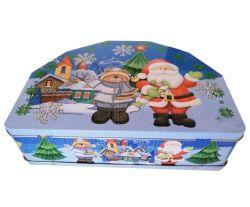 플라스틱 손잡이가 있는 식용 등급 틴박스 초콜릿 패키지 선물 잠금 육각형 입력 상자 포함
