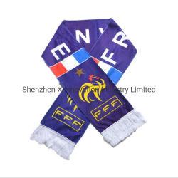 Soem-Erzeugnis fertigen gedruckten Polyester-preiswerten Fußballfan-Verein-Schal für Weltcup kundenspezifisch an