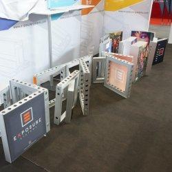 Stand modulares de exhibición de material ligero de aluminio
