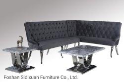 Meubles de salle de vie modernes en marbre Table Top Café feu latéral