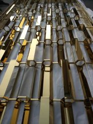 La partición de metal decorativos personalizadas de rejilla de acero inoxidable vestíbulo el panel de pared