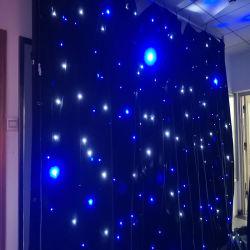 il velluto del nero della tenda della stella di 4*6m LED copre con gli indicatori luminosi del LED
