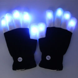 Kundenspezifisches Firmenzeichen LED beleuchten oben blinkende Winter-Handschuhe